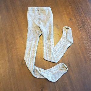 Oshkosh gray girl's cable knit tights size 4-7